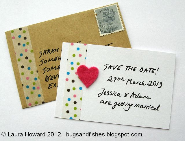 Bugs And Fishes By Lupin DIY Wedding Ideas With Felt Washi Tape