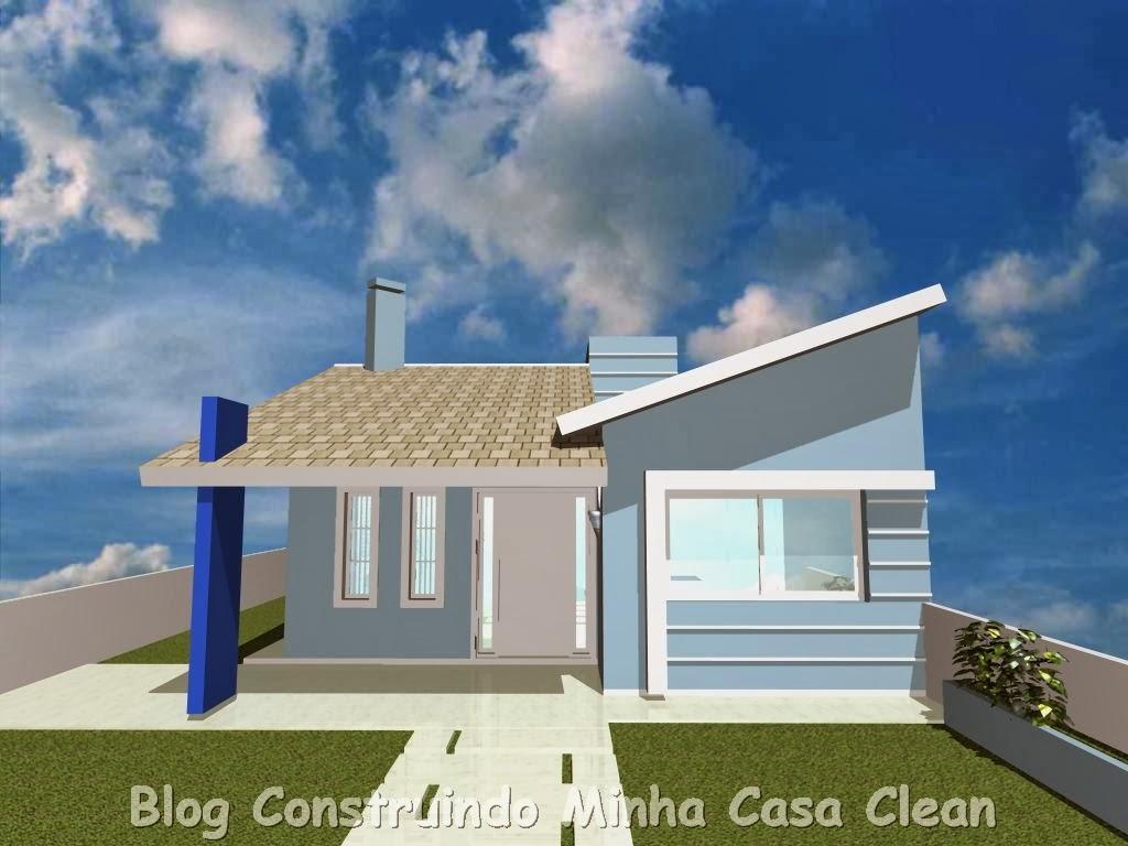 Construindo minha casa clean 20 fachadas de casas for Jazzghost casas modernas 9