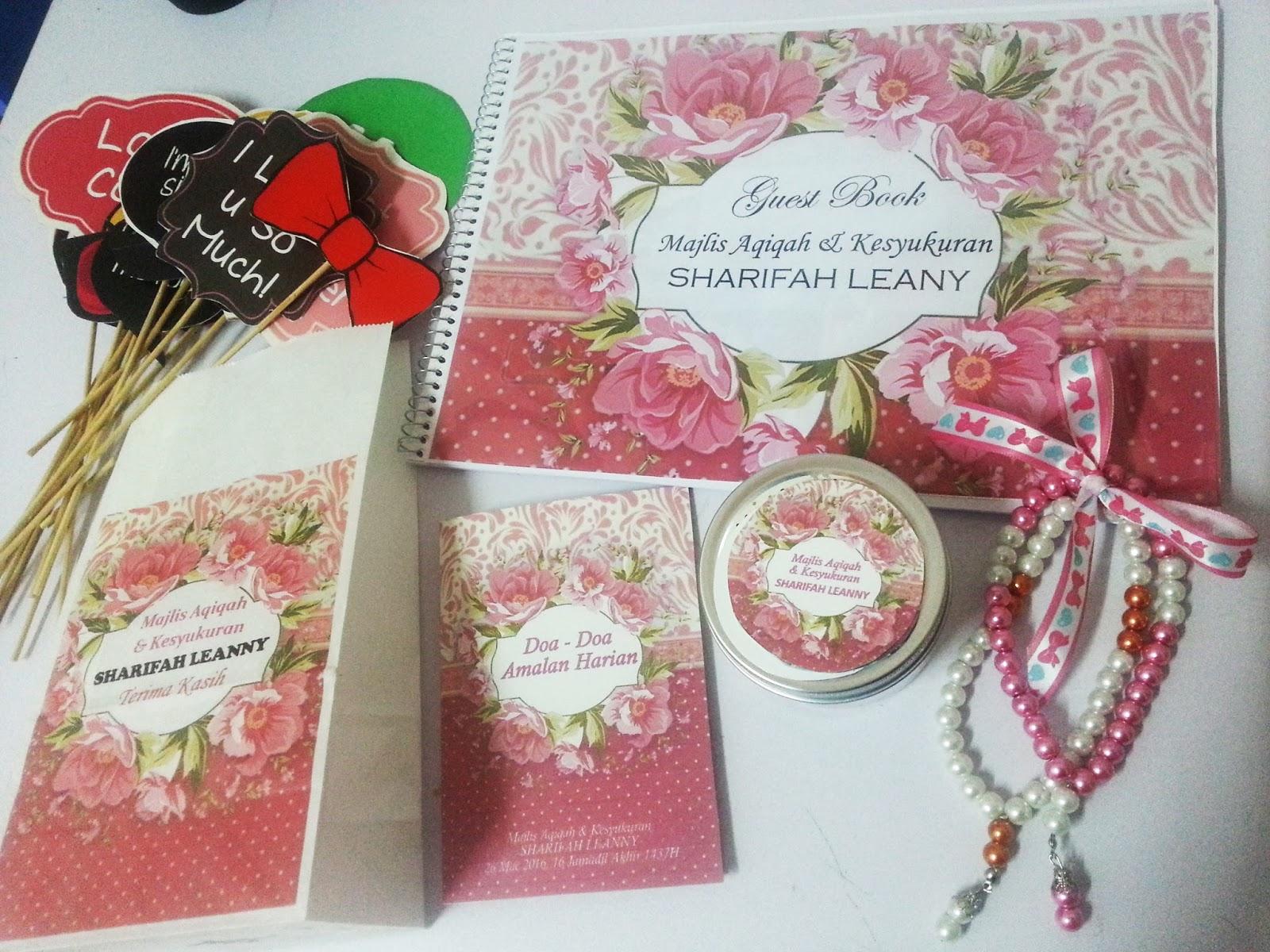 Antara personalized gift item untuk majlis anda for Idea doorgift untuk aqiqah