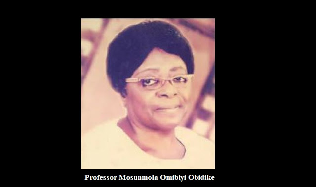 Professor Mosunmola Omibiyi Obidike is one of the foremost teachers and researchers in ethnomusicology in Nigeria, and the first female professor of music in sub-Saharan Africa.