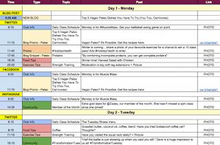 Lên lịch chi tiết hoạt động mỗi ngày