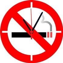Sigara içilmez duvar saati