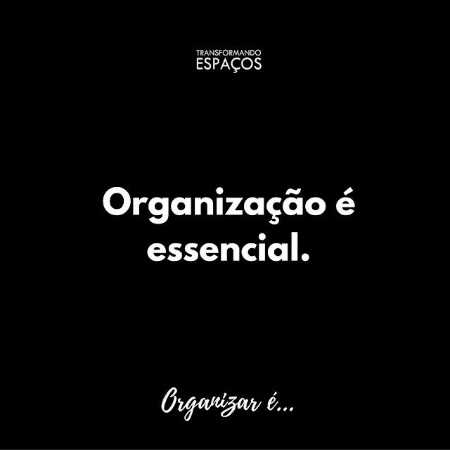 Porque Organizar é Essencial!