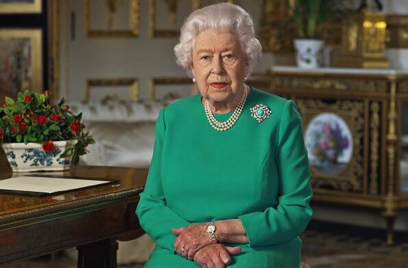 Queen Elizabeth addresses the nation in a special broadcast to the Commonwealth in relation to the Coronavirus