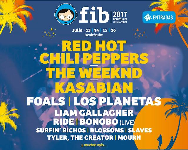 FIB, 2017, Festival, Benicassim, Música, cartel