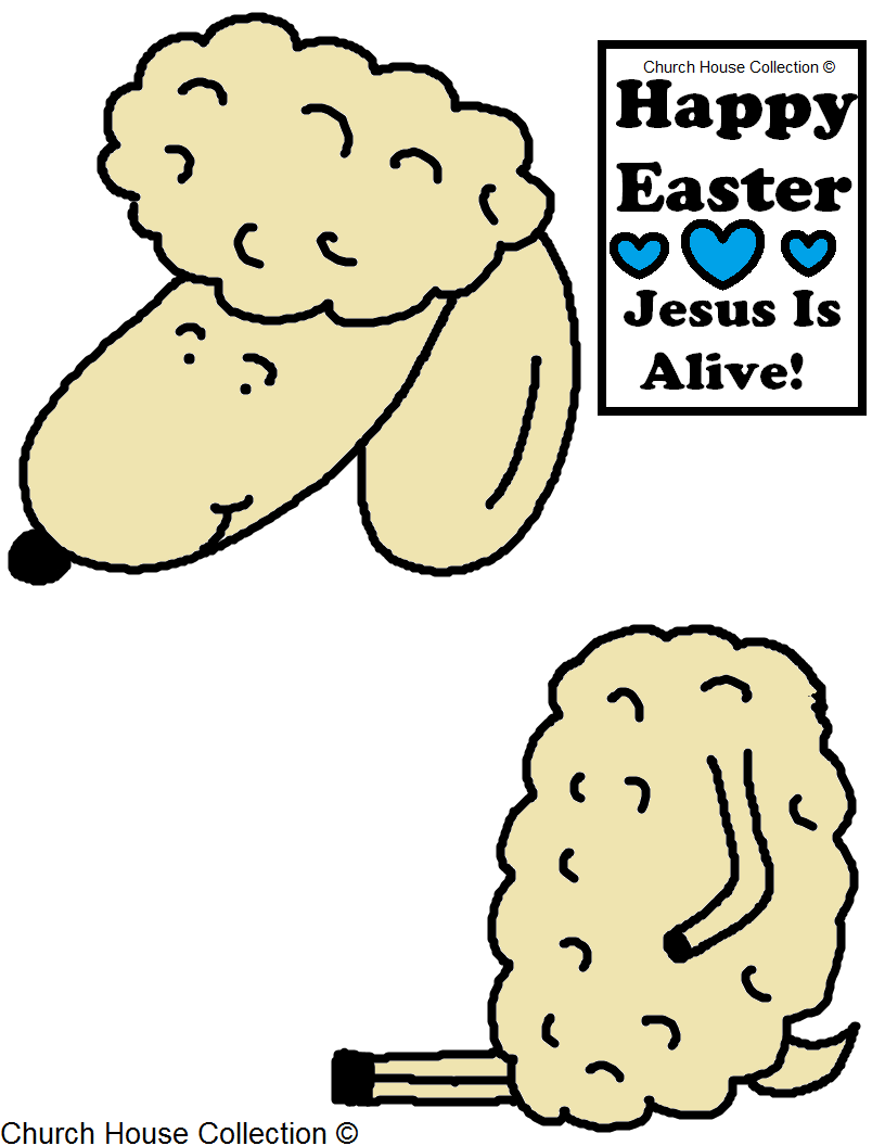 Church House Collection Blog: Easter Sheep Lamb Cutout Craft For ...