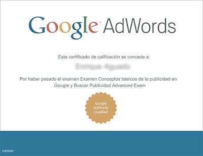 Google AdWords ofrece un certificado oficial gratuito relacionado con el Marketing Digital
