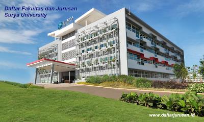 Daftar Fakultas dan Jurusan SU Surya University Tangerang Terbaru
