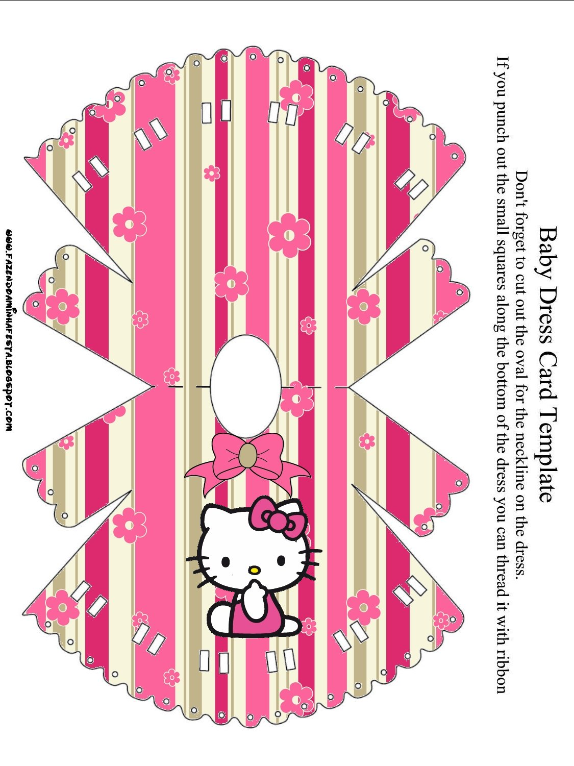 O Kitty With Flowers Free Printable Invitations Oh