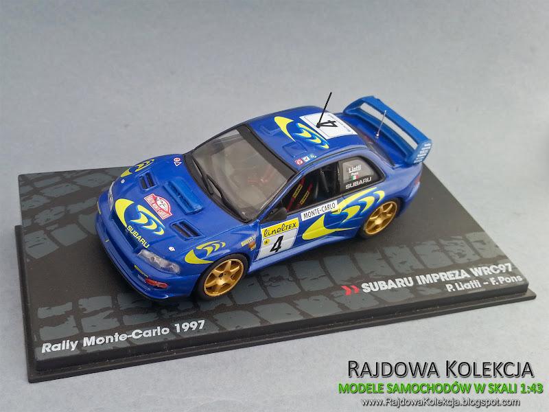 IXO Eaglemoss Subaru Impreza WRC97 Rallye Monte Carlo