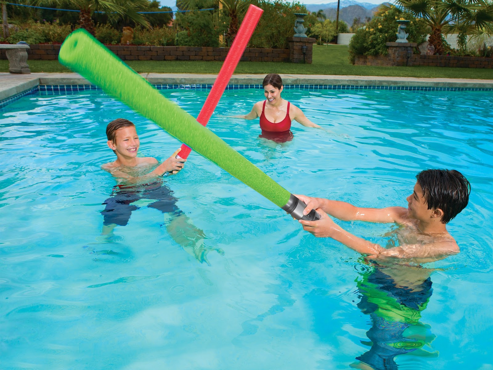 A geek daddy enjoy star wars all summer long with swimways pool toys for Swimming pool applewood swords