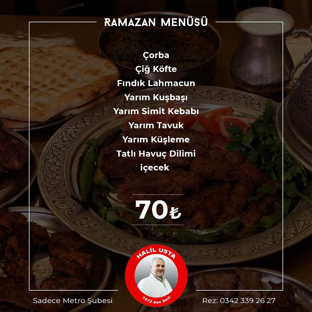 kebapçı halil usta iftar menüleri