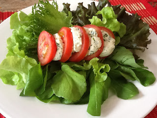 Salada caprese light