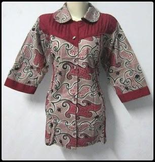 Model Baju Kemeja Batik Wanita Model Baju Kemeja Batik Wanita
