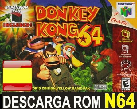 Donkey Kong N64 Rom Espanol Nintendo 64 Descargar Rar Roms De