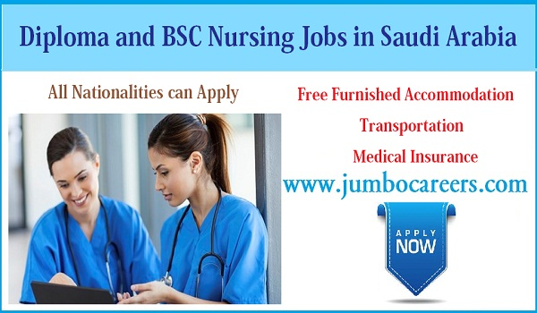 Saudi Arabian Hospital jobs for nurses, Latest diploma jobs in Saudi Arabia,