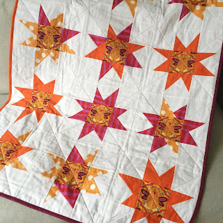 Tula Pink wonky star quilt