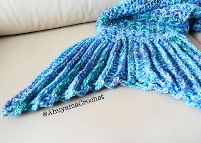 imagen cola de sirena ahuyama crochet