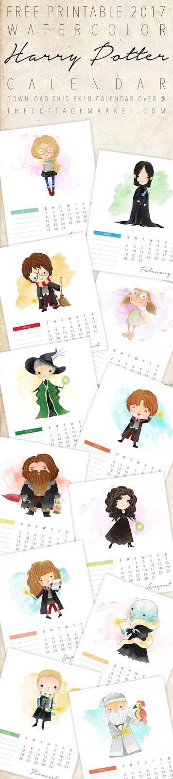 2017 Harry Potter Calendar