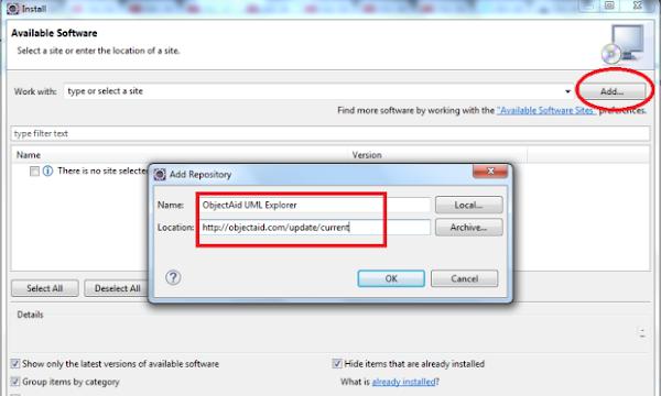 IDE Eclipse informação para instalar plugin