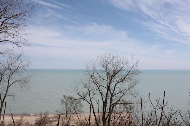 Lake Michigan from Openlands Lakeshore Preserve in Fort Sheridan, Illinois