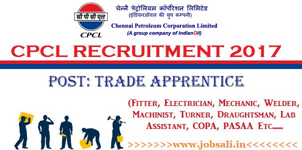 CPCL Apprentice Recruitment 2017, CPCL Careers, Chennai Corporation Vacancy