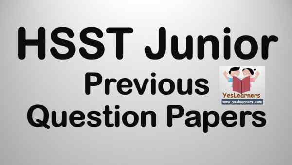 HSST Junior- Previous Question Papers