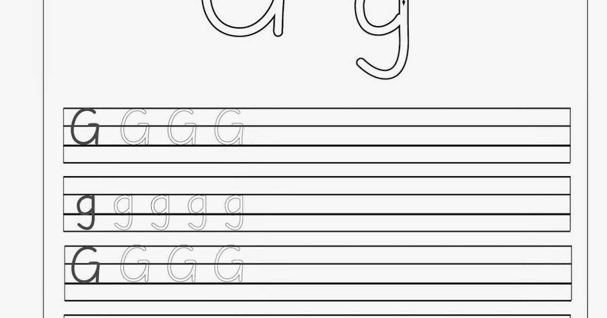 Lernstübchen: G - g Arbeitsblätter zum Schreiben