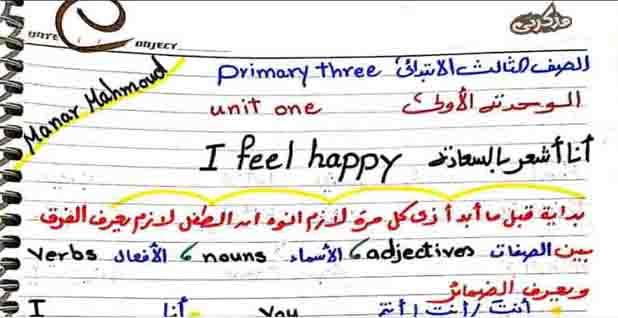 تحميل شرح للوحدة الاولى من منهج اللغة الانجليزية للصف الثالث الابتدائى الترم الاول المنهج الجديد 2021