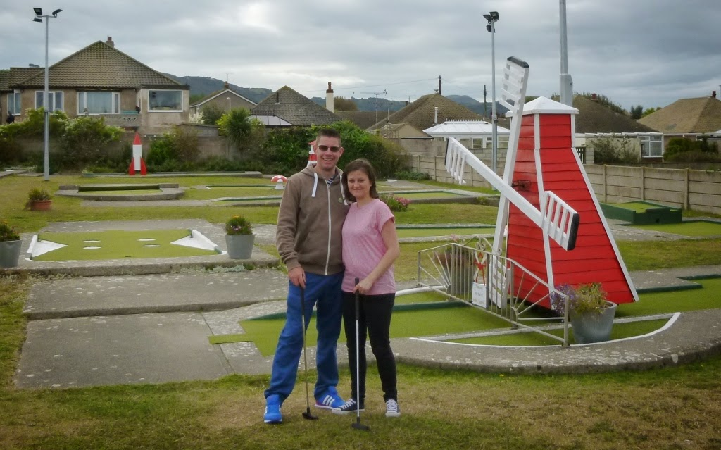 At the Crazy Golf course in Prestatyn (photo by Seth Thomas)