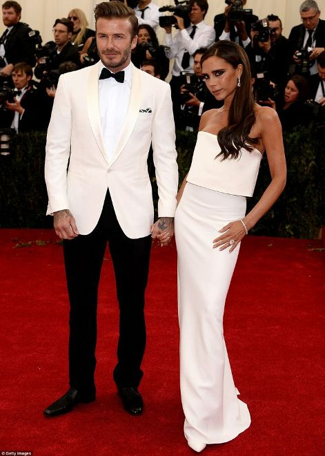 David and Victoria Beckham at the Met Gala 2014
