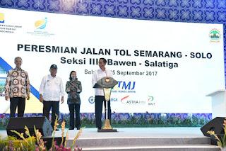 Ruas Jalan Tol Bawen - Salatiga Di resmikan Presiden Jokowi