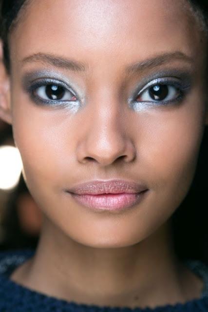 Metallic eye makeup can brighten up everything. Photo: Imaxtree