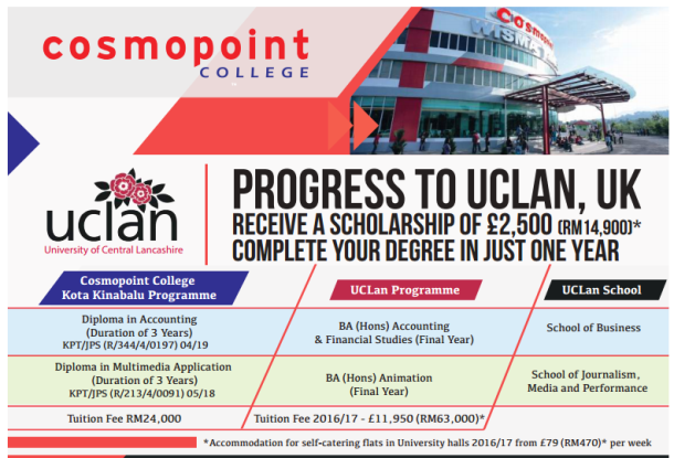 Cosmopoint Colloboration with Uclan University
