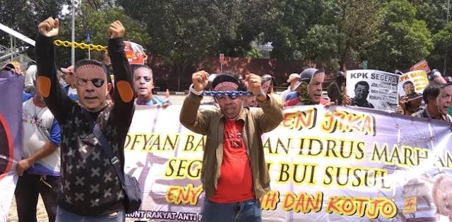 Ratusan Orang Demo KPK, Tuntut Idrus Dan Sofyan Ditangkap