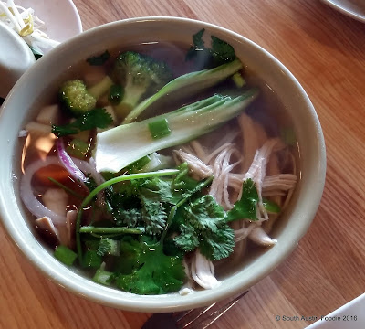 Phonatic chicken and veggie pho