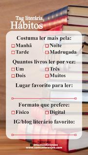 Tag literária hábitos de leitura templates storie
