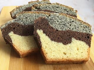 Ciasto babka z makiem, kakao i wanilią