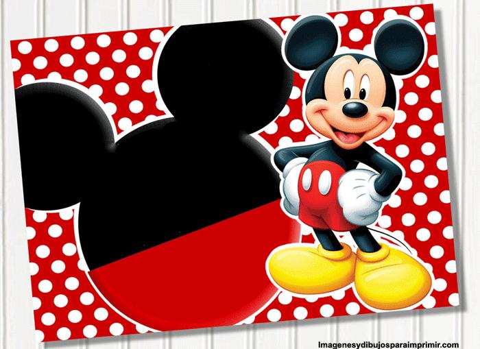 Invitaciones De Cumpleaños De Mickey