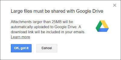 Peringatan Google Drive