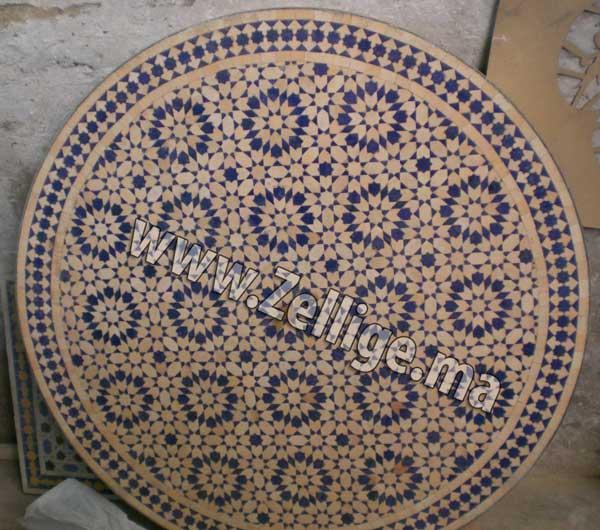 Des Tables Marocaine En Zellige Ronde Tables En Zellige Marocain