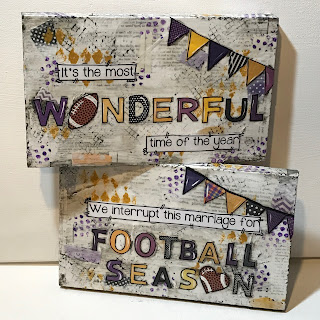 Ravens painted sign, Its the most wonderful time of the year football sign