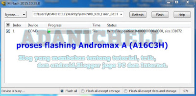proses flashing Andromax A (A16C3H)