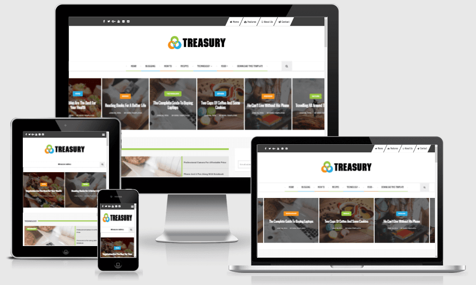 Download Treasury Responsive Blogger Template