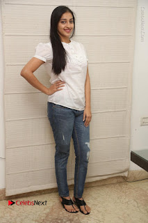 Tollywood Telugu Actress Mouryaani Latest Stills in Ripped Jeans at Intlo Deyyam Nakem Bhayam Movie Interview  0080.JPG