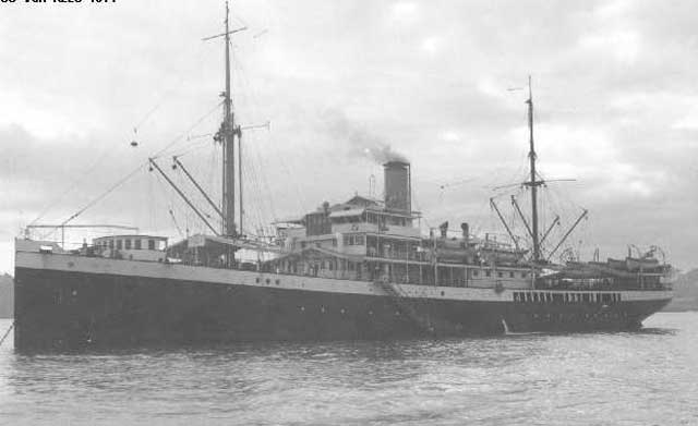 Dutch freighter SS Van Rees, sunk on 8 January 1942 worldwartwo.filminspector.com