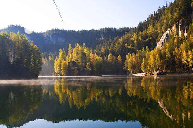 Adršpašské skály, jezioro w dawnej piaskowni