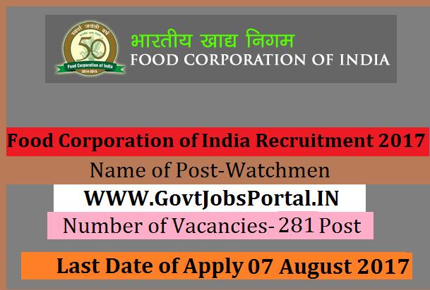 Food Corporation Of India Recruitment  Karnataka