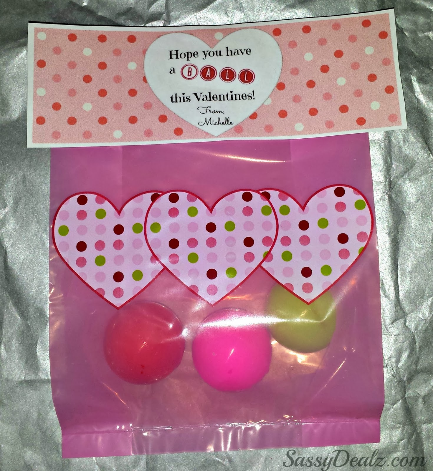 Diy Valentine S Day Bouncy Ball Gift Bag Idea Crafty Morning