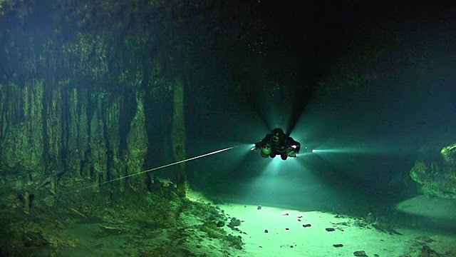 Mexico's Yucatan Peninsula reveals a cryptic methane-fueled ecosystem in flooded caves